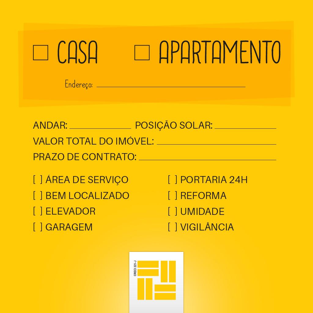 checklist aluguel
